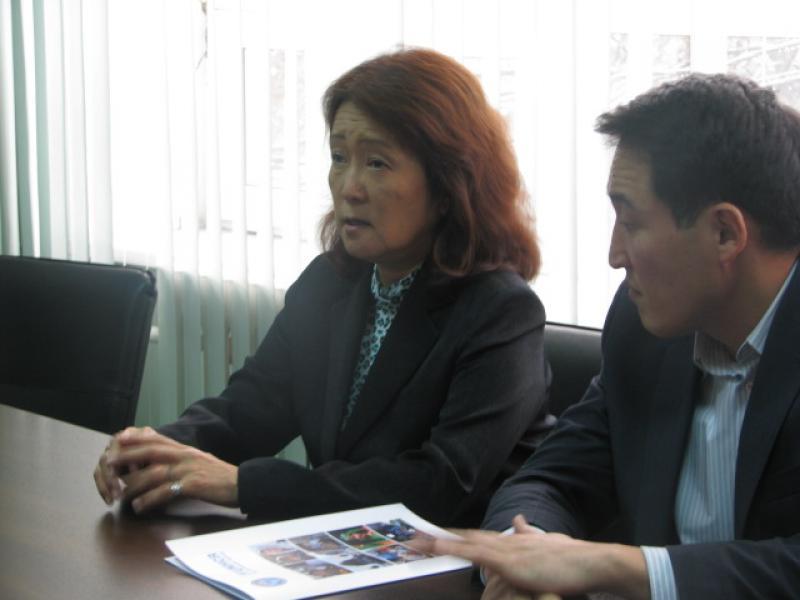 Тайырбек Сарпашев принял главу представительства УВКБ ООН в КР Маки Шинохара