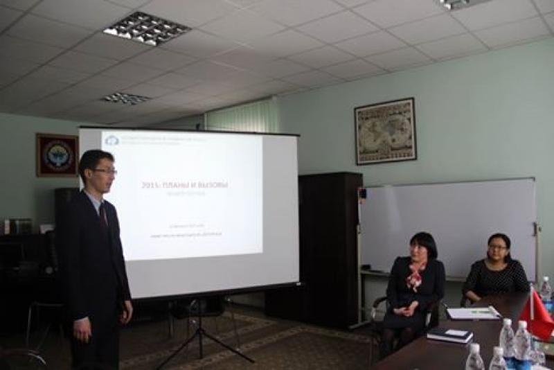 Встреча руководства ГРС с директором Миссии USAID в Кыргызской Республике Майклом Грином
