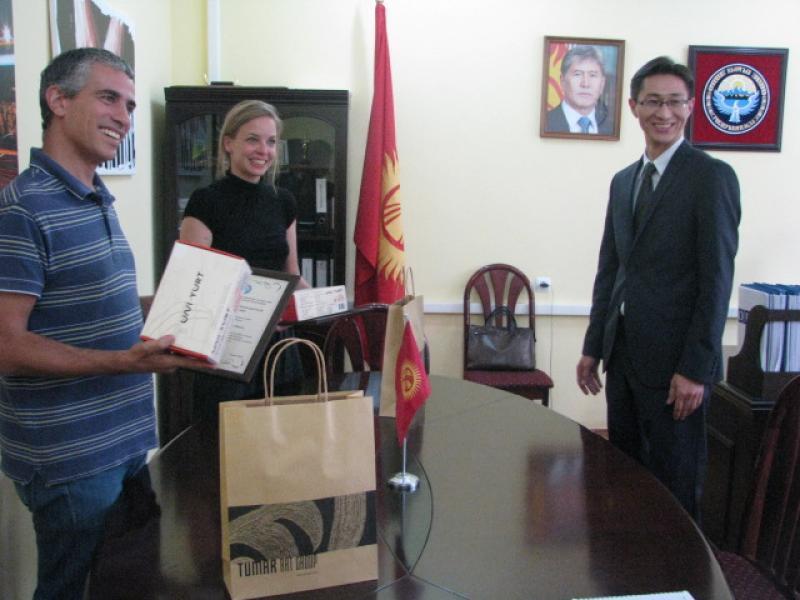 Представителям ОБСЕ в г. Бишкек вручили грамоту «Благодарность председателя»