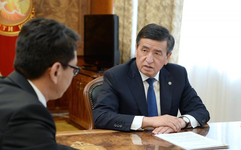 Президент Сооронбай Жээнбеков МКК төрагасы менен катоо-эсепке алуу системасын модернизациялоо боюнча чараларды талкуулады